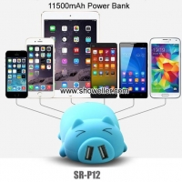 Power bank Cartoon Pig Portable Battery Charger for iPhone/iPad/Smart phones